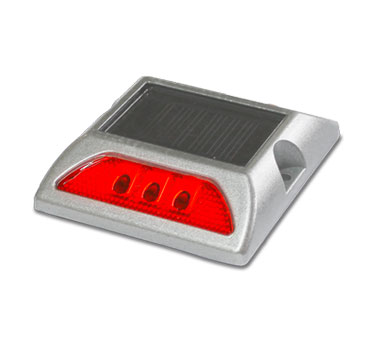 tacha solar sin vastago 125 x 105 x 25 mm doble led rojo lima peru traxpark