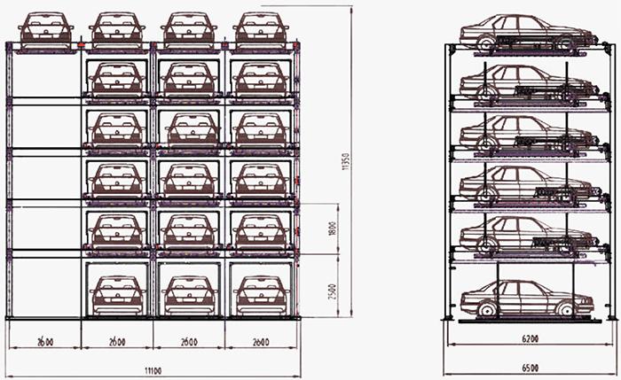 Estacionamiento Automatizado Puzzle 16 Espacios Traxpark