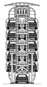 Sistema de estacionamientos Rotatorios de 12 Espacios Traxpark