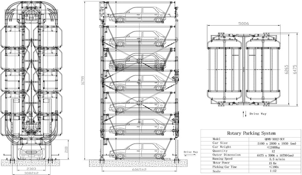 Rotatory Parking System 12 Slots Traxpark